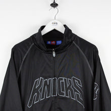 Load image into Gallery viewer, MAJESTIC New York KNICKS Track Top Black | XXL