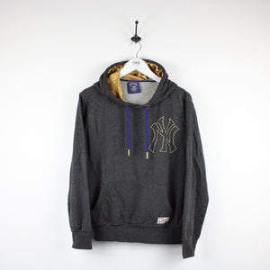 MAJESTIC New York YANKEES Hoodie Grey | Small