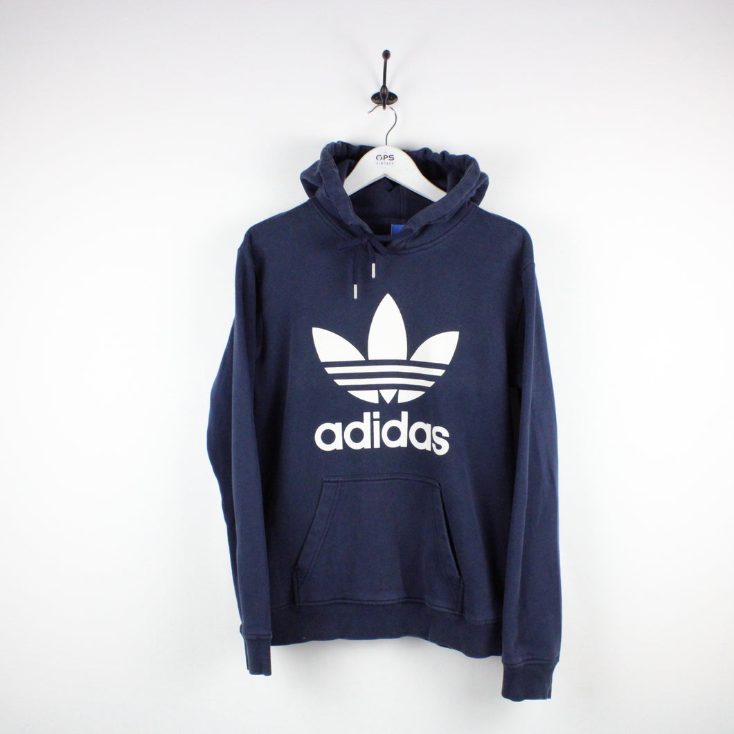 ADIDAS Hoodie Navy Blue | Medium