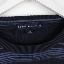Load image into Gallery viewer, TOMMY HILFIGER Knit Sweatshirt Navy Blue | Large
