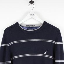 Load image into Gallery viewer, NAUTICA Knit Sweatshirt Navy Blue | Large