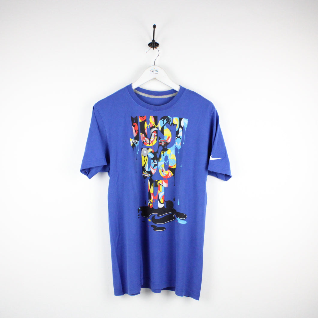 NIKE T-Shirt Blue | Small
