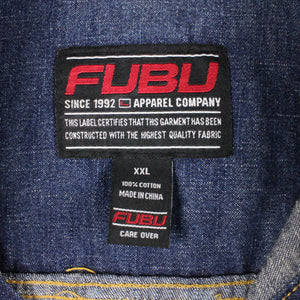 Vintage 90s FUBU Denim Jacket Blue | XXL