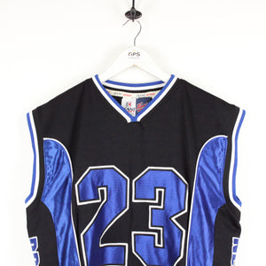 Vintage 90s KARL KANI Jersey Black | Medium