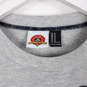 Vintage 90's LOONEY TUNES Sweatshirt Grey | Medium