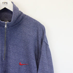 Nike 1/4 Zip Fleece Blue | Large