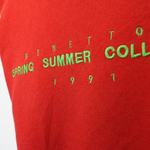 Load image into Gallery viewer, UNITED COLOURS OF BENETTON 90s Sweatshirt Red | Medium