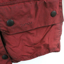Load image into Gallery viewer, Womens BARBOUR Bedale Waxed Jacket Red | Medium