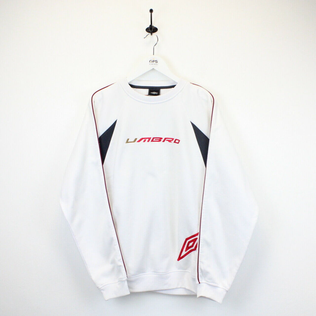 UMBRO 00s Sweatshirt White | Large