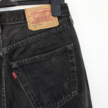 Load image into Gallery viewer, Womens LEVIS 501 Jeans Black Charcoal l W28 L30