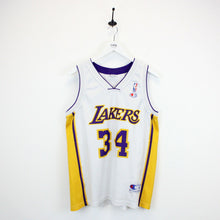 Load image into Gallery viewer, Vintage CHAMPION LA LAKERS Jersey White | Medium