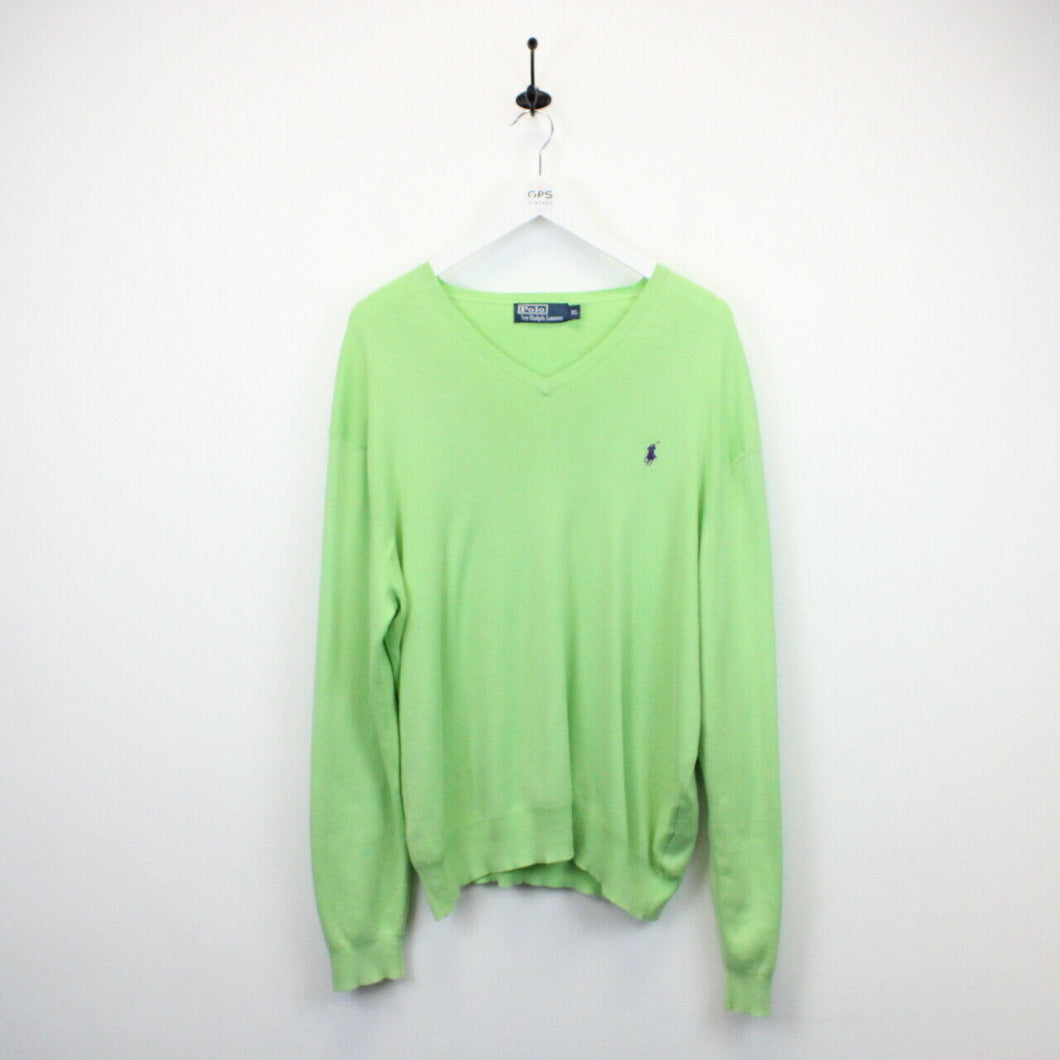 RALPH LAUREN Knit Sweatshirt Green | XL