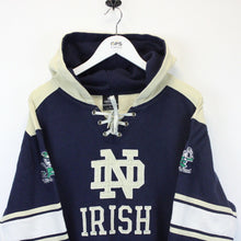 Load image into Gallery viewer, NCAA NOTRE DAME Fighting Irish Hoodie Navy Blue | Large