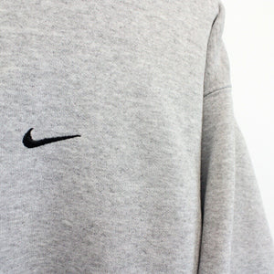 NIKE TEAM 90s Sweatshirt Grey | Large