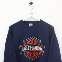 Load image into Gallery viewer, HARLEY DAVIDSON 90s Sweatshirt Navy Blue | Medium