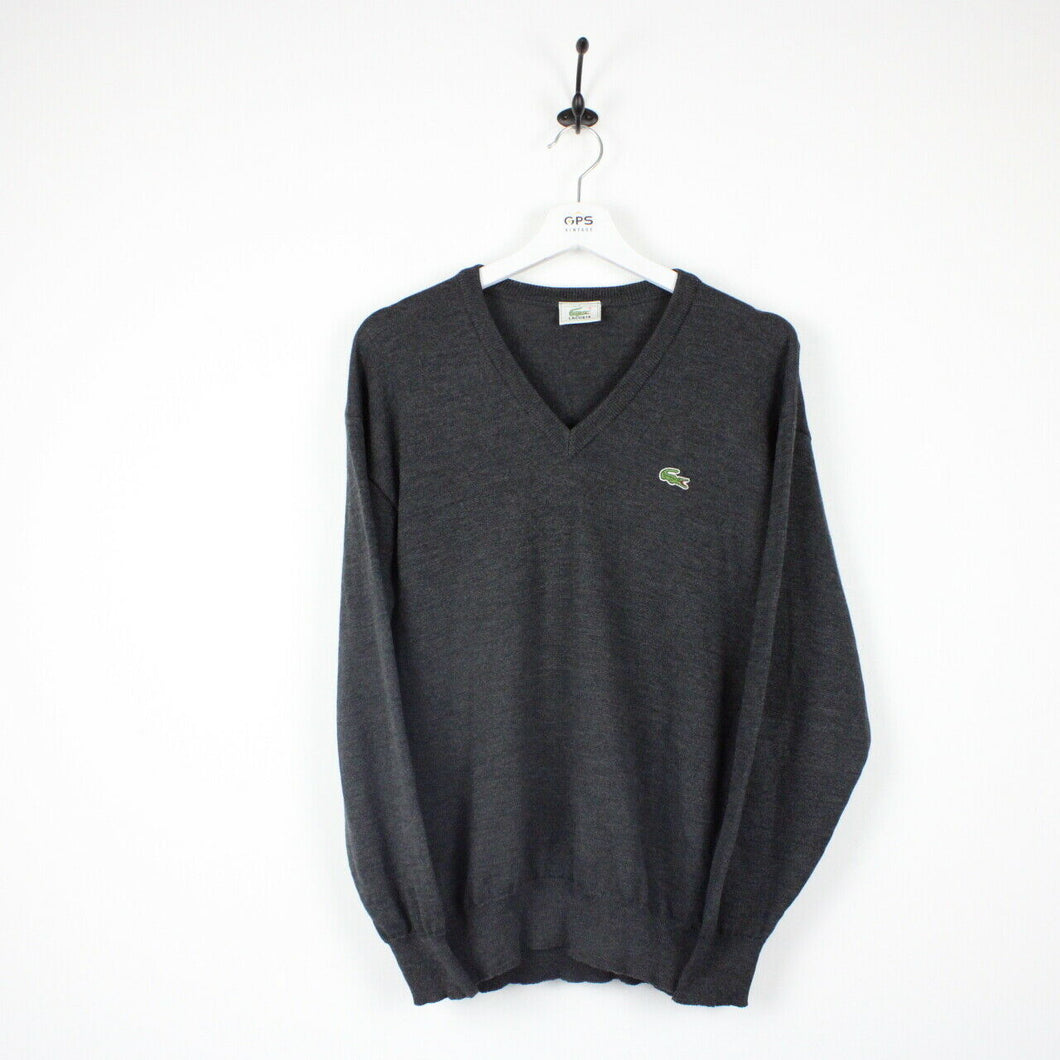 LACOSTE Knit Sweatshirt Grey | Medium