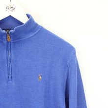 Load image into Gallery viewer, Womens RALPH LAUREN 1/4 Zip Sweatshirt Blue | XS