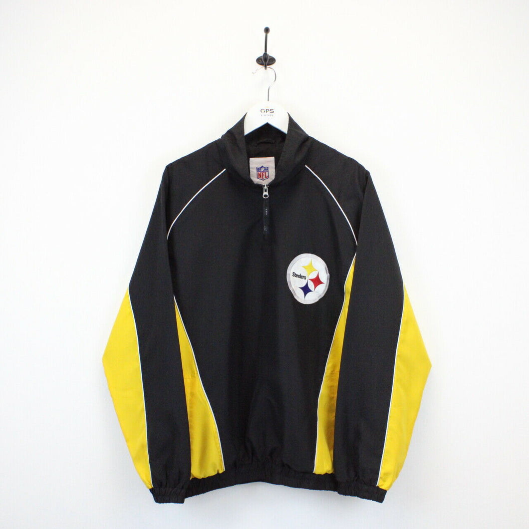 NFL Pittsburgh STEELERS 1/4 Zip Jacket | Large