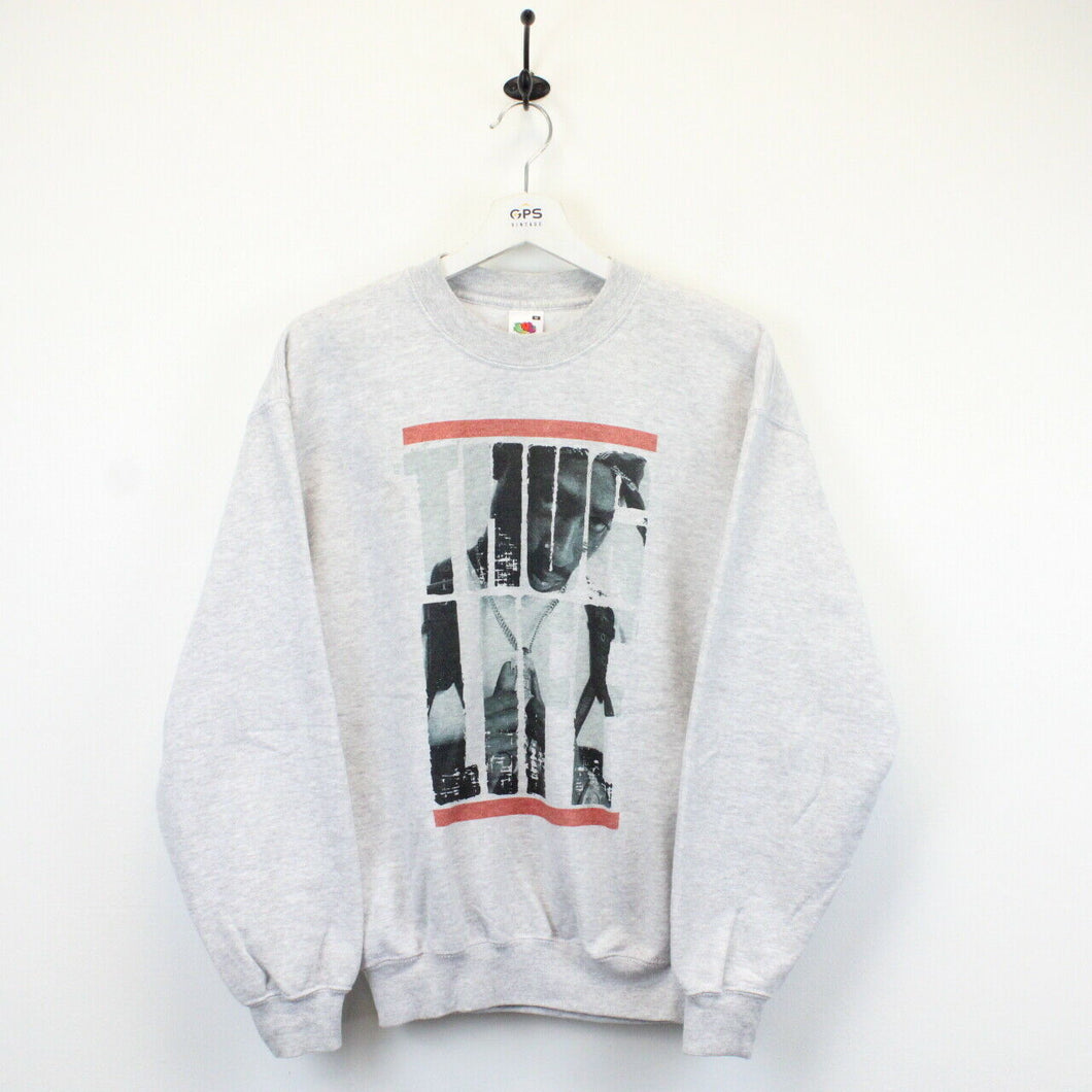 TUPAC 00s Sweatshirt Grey | Small