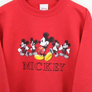 DISNEY 90s Sweatshirt Red | Medium