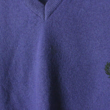Load image into Gallery viewer, Vintage FRED PERRY Knit Sweatshirt Purple | Small
