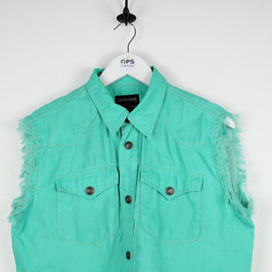 Womens ROBERTO CAVALLI Shirt Green | Large
