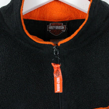 Load image into Gallery viewer, Womens Vintage HARLEY DAVIDSON 1/4 Zip Fleece Black | XL