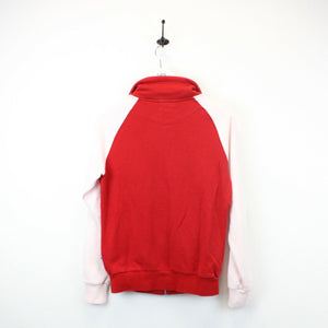 Womens ADIDAS Track Top Red | Small