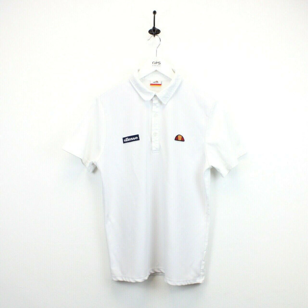 ELLESSE Polo Shirt White | Medium
