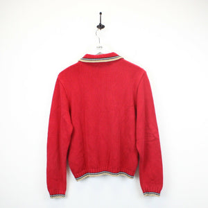 Womens BURBERRY Knit Sweatshirt Red | Small