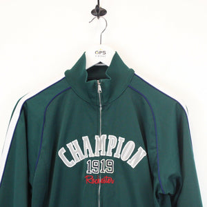 Womens CHAMPION Track Top Green | Small