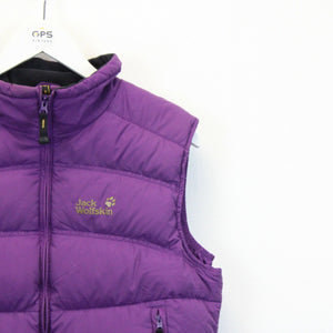 Womens JACK WOLFSKIN Bodywarmer Purple | Medium