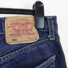Load image into Gallery viewer, LEVIS 501 Jeans Dark Blue | W36 L32