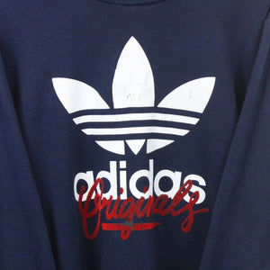 ADIDAS Sweatshirt Navy Blue | Large