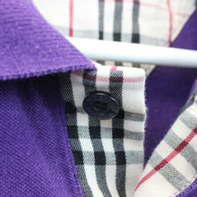 Load image into Gallery viewer, BURBERRY 00s Polo Shirt Purple | Medium