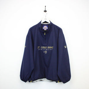 NFL REEBOK St. Louis RAMS 1/4 Zip Jacket | XL