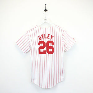 MLB 00s Philadelphia PHILLIES Jersey White | XS