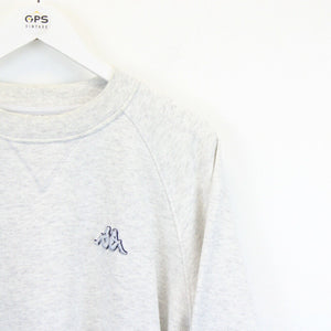 KAPPA 90s Sweatshirt Light Grey | XL