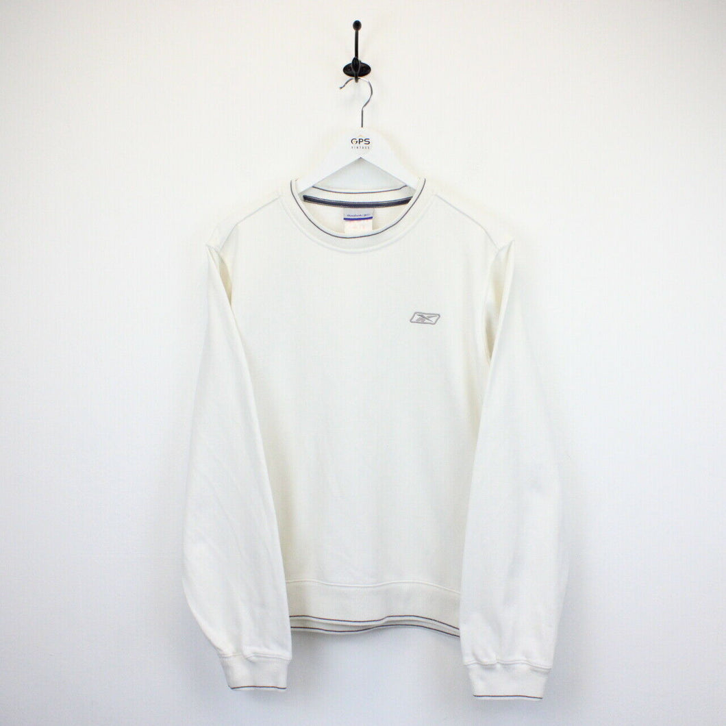 Womens REEBOK 90s Sweatshirt Cream | Small