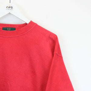 FRED PERRY 90s Sweatshirt Red | Medium