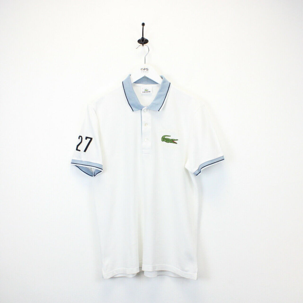 LACOSTE Polo Shirt White | Medium