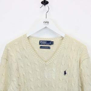 RALPH LAUREN Knit Sweatshirt Cream | Large