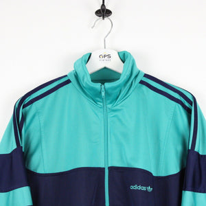 Vintage 80s ADIDAS Track Top Jacket Green | Small