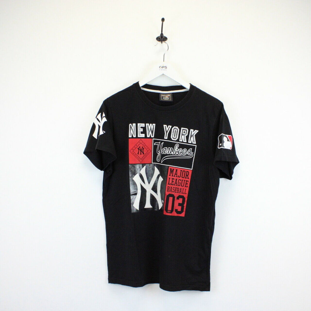MAJESTIC New York YANKEES T-Shirt Black | Small