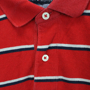TOMMY HILFIGER Polo Shirt Red | Small