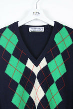 Load image into Gallery viewer, Vintage 90s BURBERRY Knit Sweatshirt Navy | Large