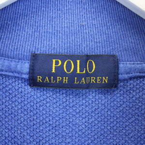 Womens RALPH LAUREN 1/4 Zip Sweatshirt Blue | XS