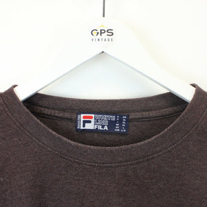 FILA T-Shirt Brown | Large
