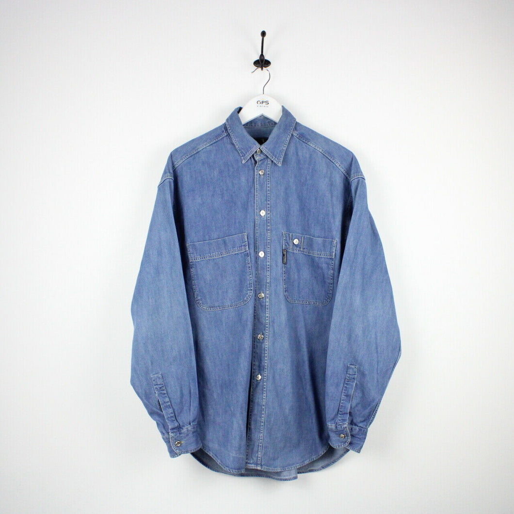 TRUSSARDI Denim Shirt Blue | Large