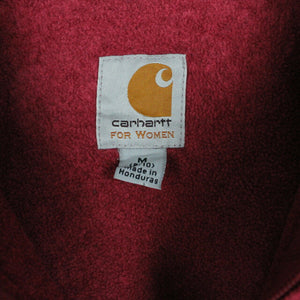 Womens Vintage CARHARTT Hoodie Red | Medium